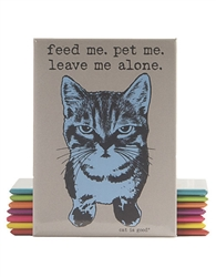 Feed Me, Pet Me (Cat) Magnet