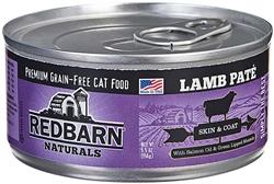 REDBARN NATURALS LAMB PATE SKIN & COAT CAT CANNED FOOD  5.5 OZ(Case of 24)
