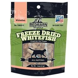 REDBARN FREEZE DRIED WHITE FISH CAT TREATS .75 OZ.
