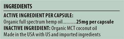 25mg Full Spectrum Hemp Oil Capsule – All Species