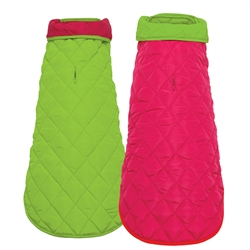 Pink/Lime Diamond Quilted Coats