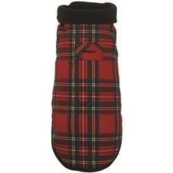 Red Plaid Coat w/ Fleece Lining