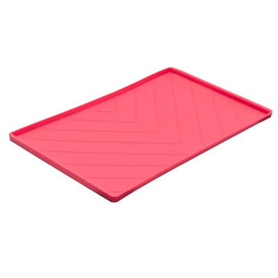 Silicone Food Mat with metal rods by Messy Mutts