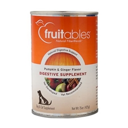 Fruitables Pumpkin Digestive Supplement for Dogs & Cats - 15oz Can (Case of 12)