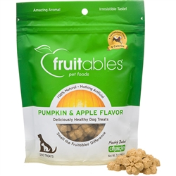 Fruitables Pumpkin & Apple Natural Dog Treats - 7oz Pouch