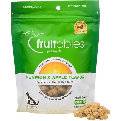 Fruitables Pumpkin & Apple Natural Dog Treats - 7oz Pouch
