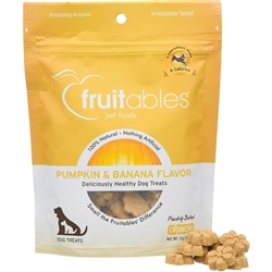 Fruitables Pumpkin & Banana Natural Dog Treats - 7oz Pouch