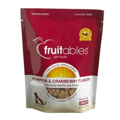 Fruitables Pumpkin & Cranberry Natural Dog Treats - 7oz Pouch