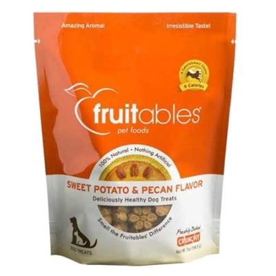 Fruitables Sweet Potato & Pecan Natural Dog Treats - 7oz Pouch