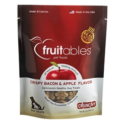 Fruitables Crispy Bacon & Apple Natural Dog Treats - 7oz Pouch