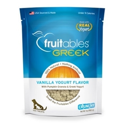 Fruitables Greek Vanilla Yogurt Flavor Dog Treats - 7oz Pouch