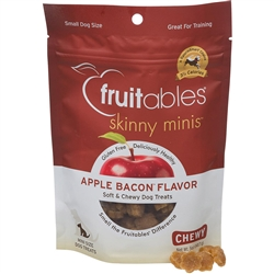 Fruitables Apple Bacon Skinny Minis Soft and Chewy Dog Treats - 5oz Pouch