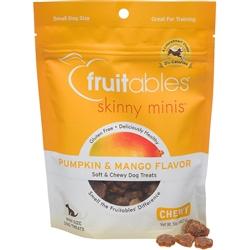 Fruitables Pumpkin & Mango Skinny Minis Soft and Chewy Dog Treats - 5oz Pouch