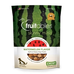 Fruitables Watermelon Skinny Minis Soft and Chewy Dog Treats - 5oz Pouch
