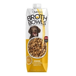 Fruitables Chicken Broth Bowls for Dogs Food Topper - 16.9oz   (Case of 12)
