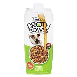 Fruitables Veggie Broth Bowls for Dogs Food Topper - 16.9oz (Case of 12)