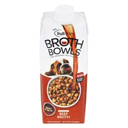 Fruitables Beef Broth Bowls for Dogs Food Topper - 16.9oz   (Case of 12)