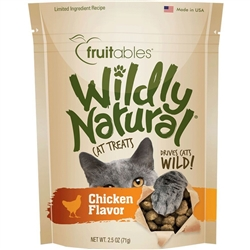 Fruitables Chicken Flavor Wildly Natural Cat Treats - 2.5oz Pouch