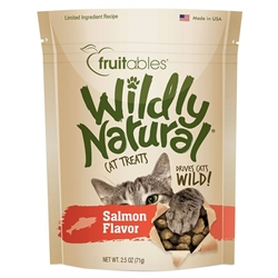 Fruitables Salmon Flavor Wildly Natural Cat Treats - 2.5oz Pouch