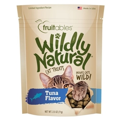 Fruitables Tuna Flavor Wildly Natural Cat Treats - 2.5oz Pouch