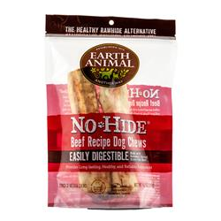 "Earth Animal No-Hide Beef Medium (7"") Dog Chews, 2 Pack"