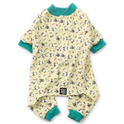Counting Sheep PJs Yellow with Light Green Trim