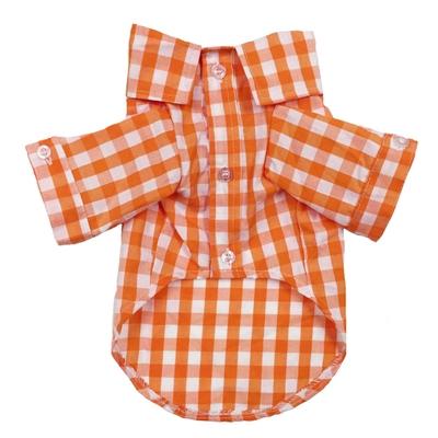 Plaid Button Down Shirt in Orange