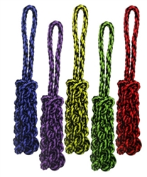 "16"" Nuts for Knots™ Rope Tug w/ Braided Stick (Assorted Colors) by Multipet"