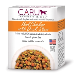 Caru Real Chicken w/ Duck Stew for Dogs 12.5oz.