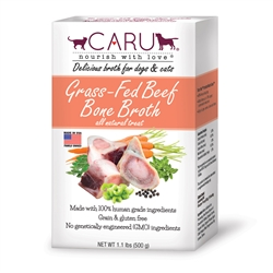 Caru Grass-Fed Beef Bone Broth for Dogs and Cats 17.6oz.