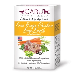 Caru Free Range Chicken Bone Broth for Dogs and Cats 17.6oz.