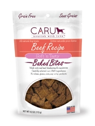 Caru Soft 'n Tasty Natural Beef Recipe Bites for Dogs 4oz.