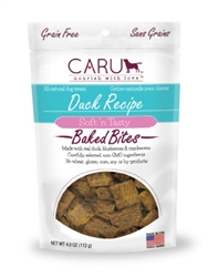 Caru Soft 'n Tasty Natural Duck Recipe Bites for Dogs 4oz.