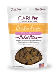 Caru Soft 'n Tasty Natural Chicken Recipe Bites for Dogs 4oz.