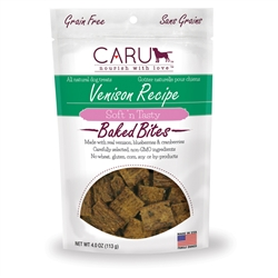 Caru Soft 'n Tasty Natural Venison Recipe Bites for Dogs 4oz.