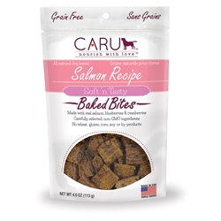 Caru Soft 'n Tasty Natural Salmon Recipe Bites for Dogs 4oz.