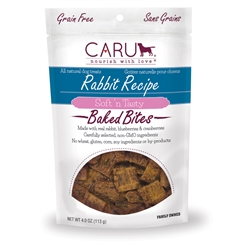 Caru Soft 'n Tasty Natural Rabbit Recipe Bites for Dogs 4oz.