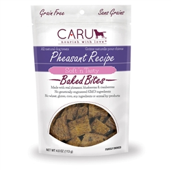 Caru Soft 'n Tasty Natural Pheasant Recipe Bites for Dogs 4oz.