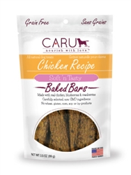 Caru Soft 'n Tasty Natural Chicken Recipe Bars for Dogs 3.5oz.