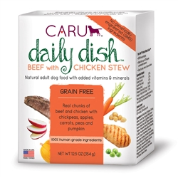 Caru Daily Dish Beef with Chicken Stew for Dogs 12.5 oz