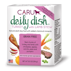 Caru Daily Dish Turkey with Lamb Stew for Dogs 12.5 oz.