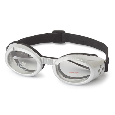 Silver ILS Doggles with Clear Lens