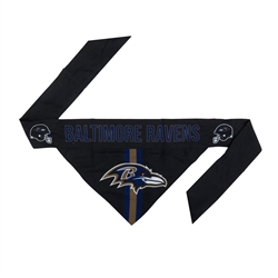 NFL Baltimore Ravens Dog Bandana - TIE ON