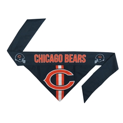 NFL Chicago Bears Dog Bandana  - TIE ON