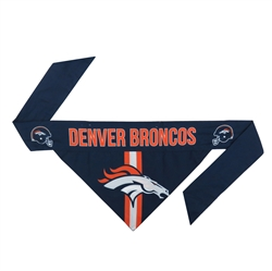 NFL Denver Broncos Dog Bandana  - TIE ON