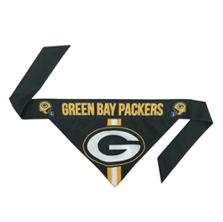 NFL Green Bay Packers Dog Bandana  - TIE ON