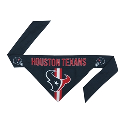 NFL Houston Texans Dog Bandana  - TIE ON