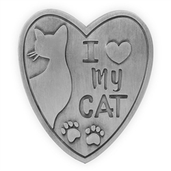 Pawsitive Visor Clip-I Love My Cat