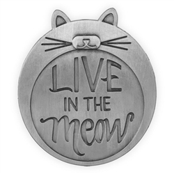 Pawsitive Visor Clip-Live in the Meow