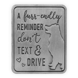 Pawsitive Visor Clip-A Furr-endly Reminder-Dog